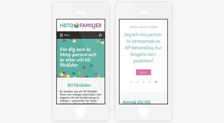 HBTQ familjer, webben i mobilen