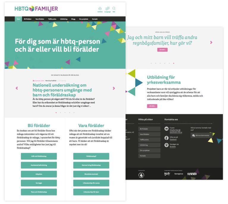 HBTQ Familjer - webbplats desktop