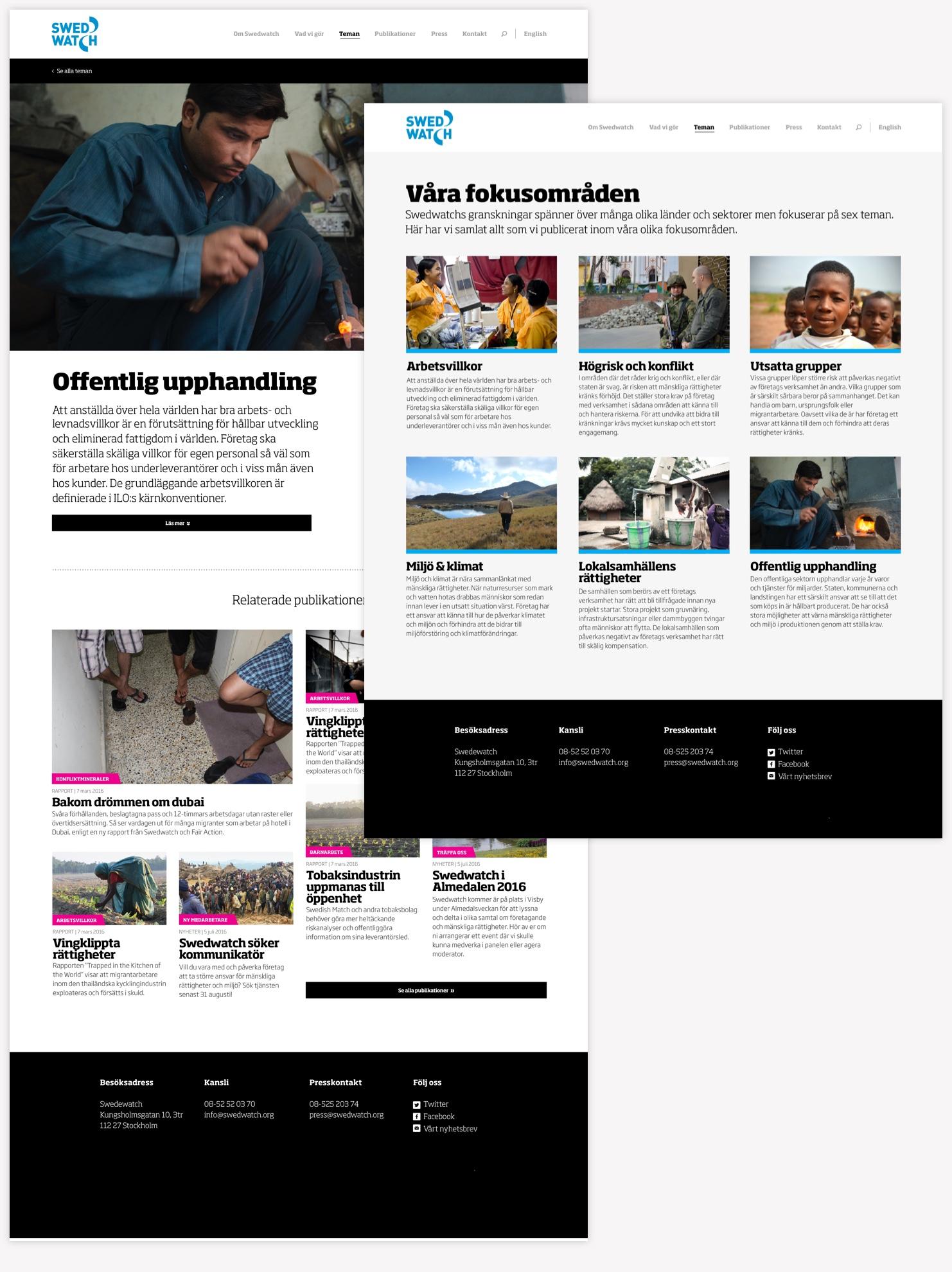 Swedwatch design fokusområden